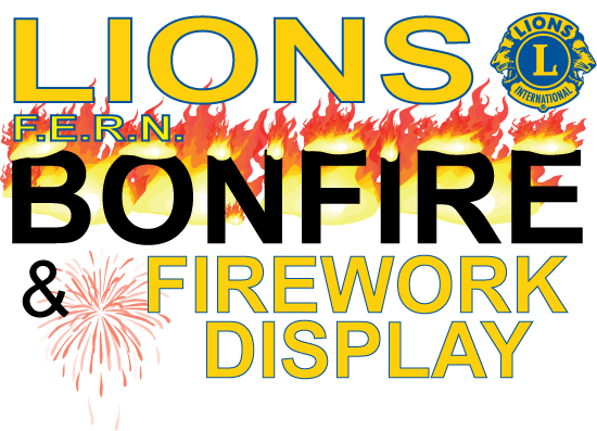 The logo of the Lions Speech House Bonfire