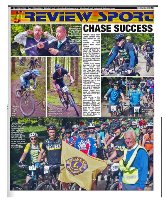 A press report of the Wild Boar Chase 2015