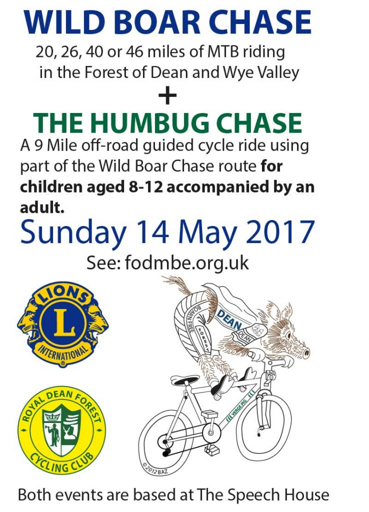 A poster for the Wild Boar Chase and Humbug Chase - 14 May 2017
