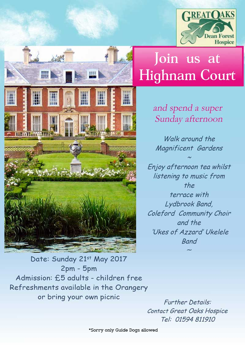 A poster for Great Oaks Hospice afternoon tea event