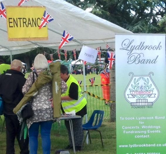 A photo showing Lions helping at the Proms in the Park