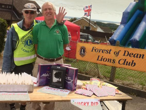 A photo showing Forest Lions helping at the Hospital Fete