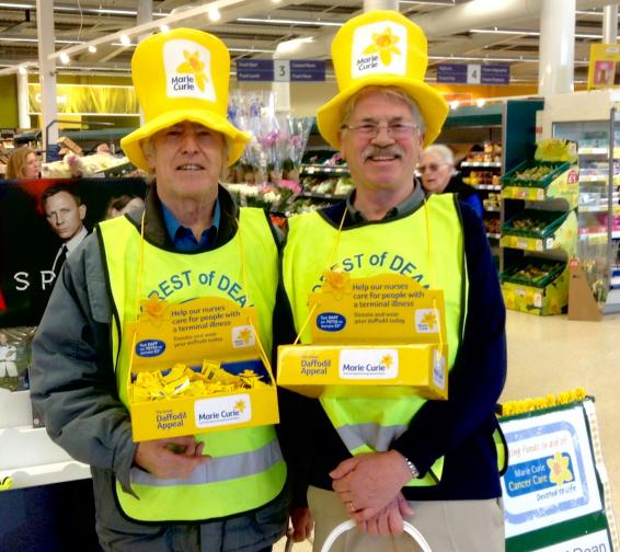 A photo of Lions collecting for Marie Curie at Tesco, Lydney.
