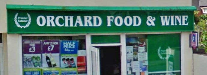 A photo of the front of Orchard Food and Wine, Lydney