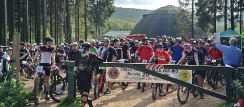 A photo of the start of the 2015 XC Enduro
