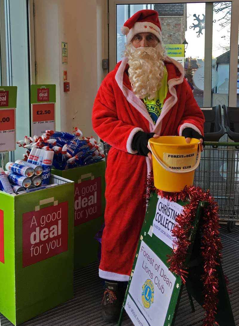Forest of Dean Lions Christmas collection at Coleford Co-op