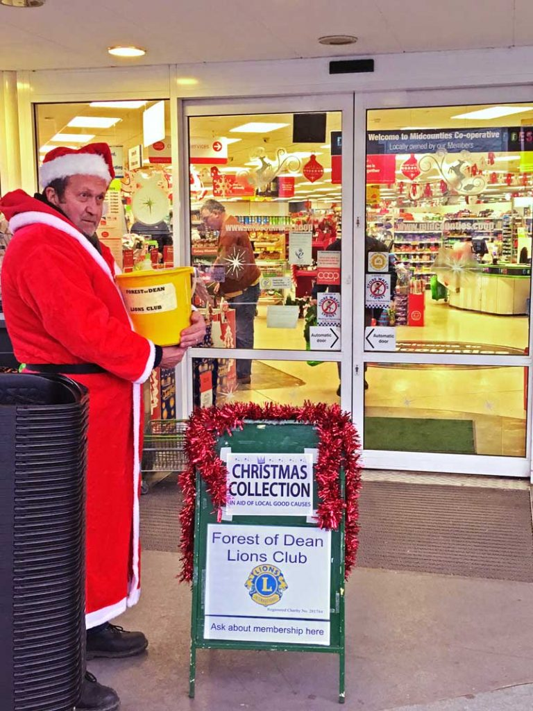 A photo of the Lions Christmas collection at Lydney Co-op 2017
