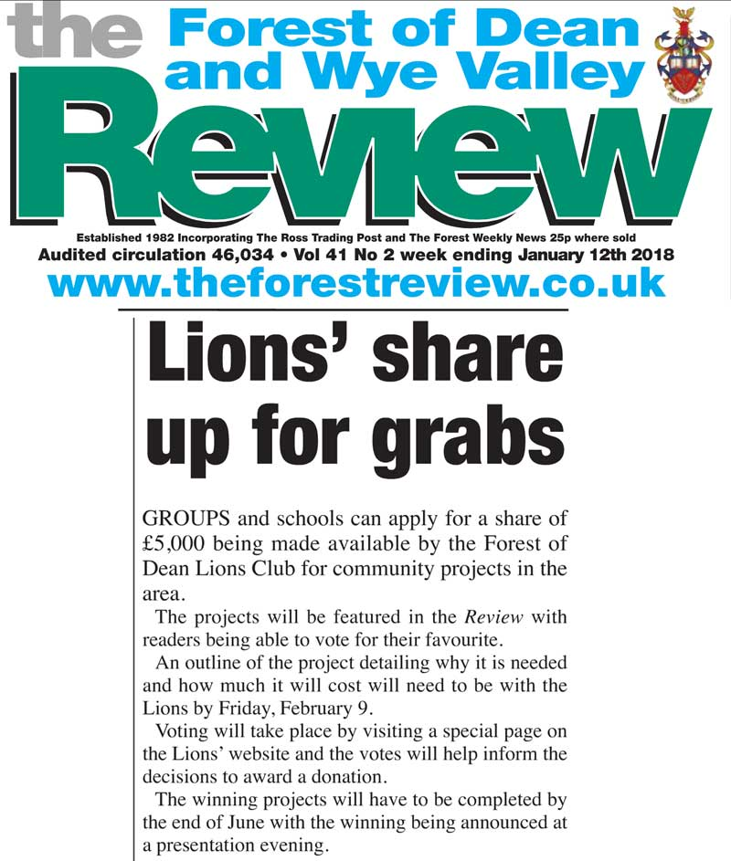 Lions launch community projects initiative