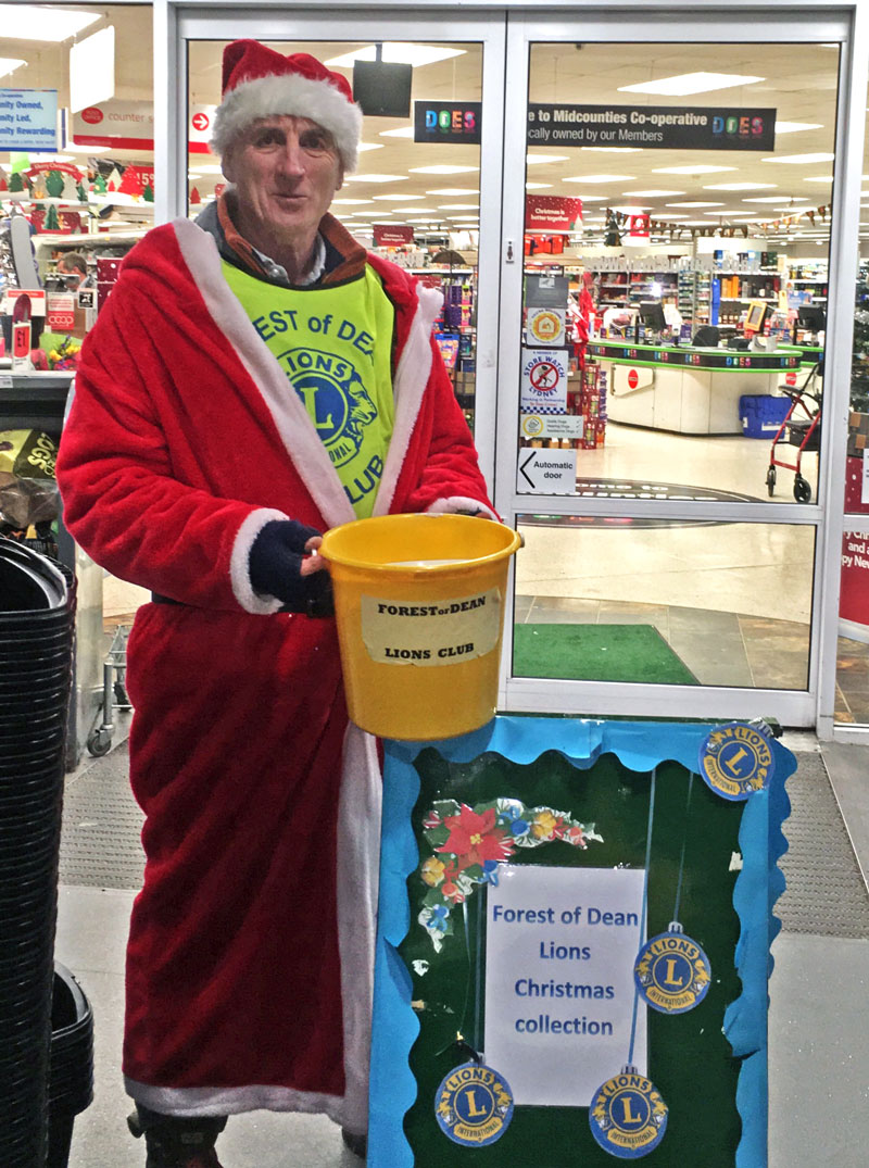 A photo of the Forest of Dean Lions Lydney Co-op Christmas Collection 2019
