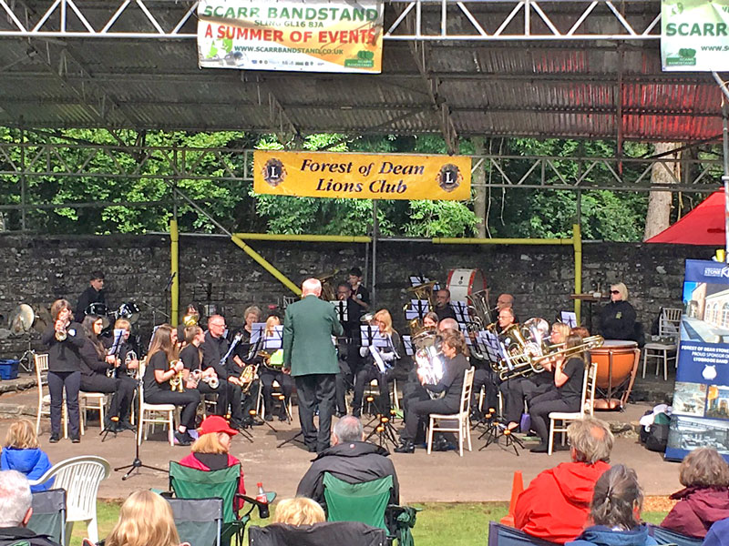 A photo of Lydbrook Training Band at Scarr Bandstand