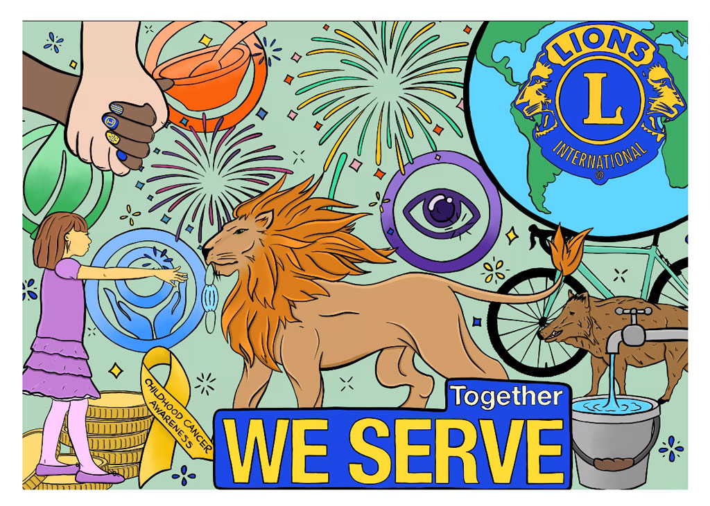 FoD Lions poster competition - winning entry